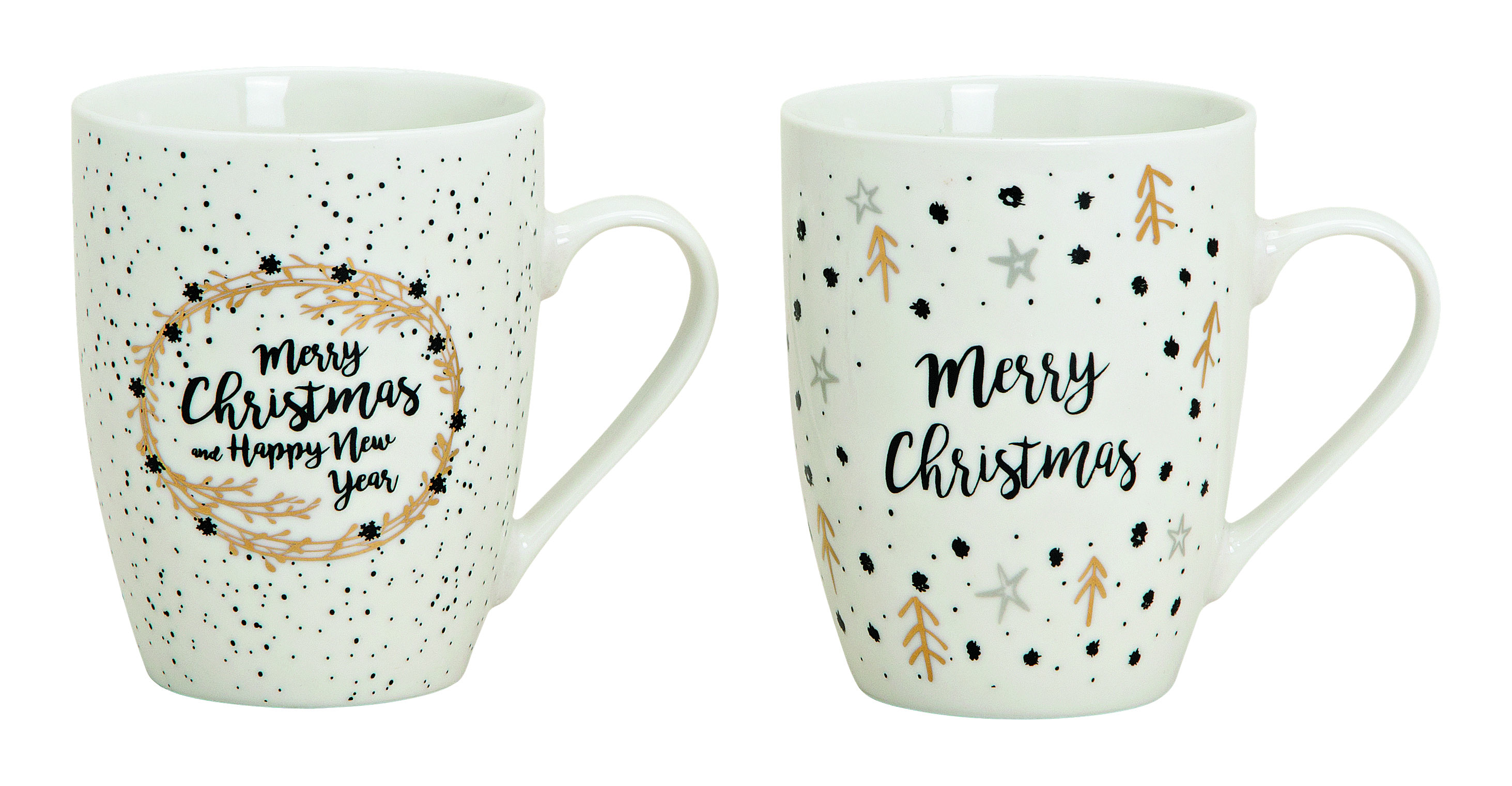 Becher Sprüche Merry Christmas, Ve. 1Stk