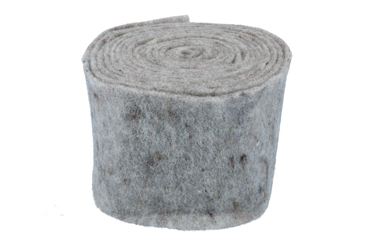 Topfband 15cm, 5m,  hell Grau