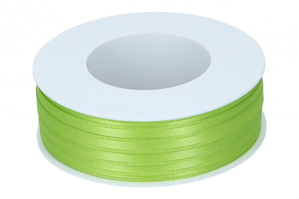 Doppelsatin Band 6mm, 50m, limone
