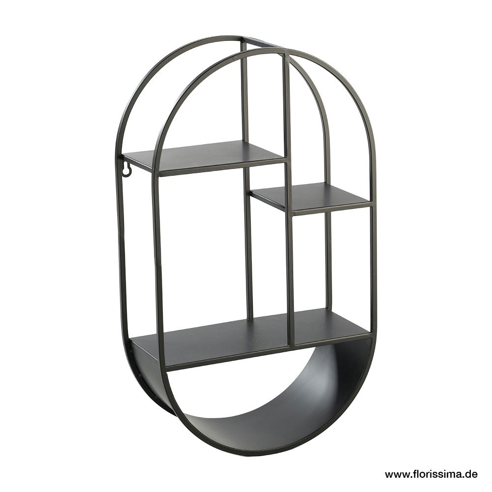 Wandregal oval 35x15 H60cm, Ve. 1 Stk (#153810000)