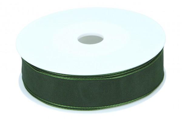 Formb. Drahtkantenband 25mm, dunkel grün