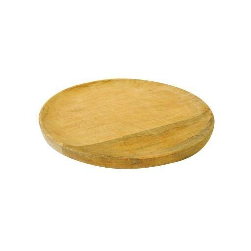 Holztablett rund Ø40 Höhe 3cm, 1 Stück