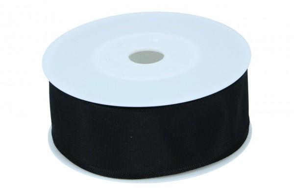 Formb. Drahtkantenband 40mm, 25m,schwarz