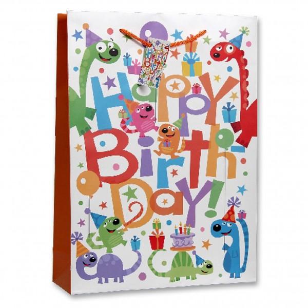 Papiertüte 'Happy Birthday' VE = 1