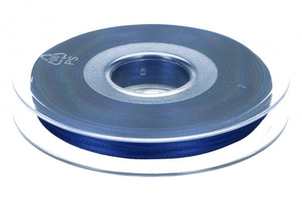 Satinband 3mm, 50m, tiefes blau