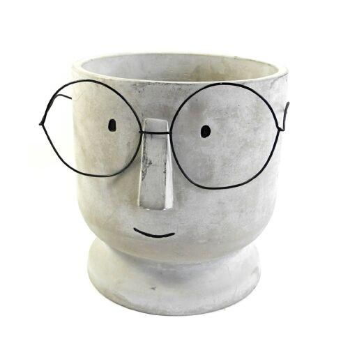 Vase mit Gesicht Ø20cm Höhe 19cm, 1Stück
