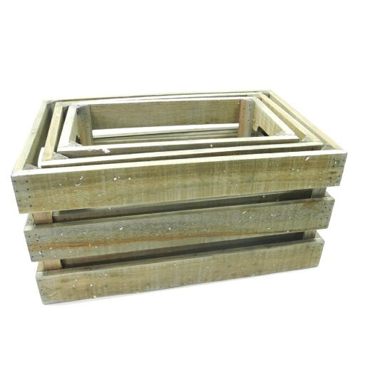 Holzbox 3-er Set, 1 Set