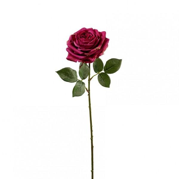 Rose mit Blätter L66cm, Ve. 3 Stück (#191190498)