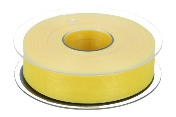 Beauty Organdy Band 25mm, 50m, gelb