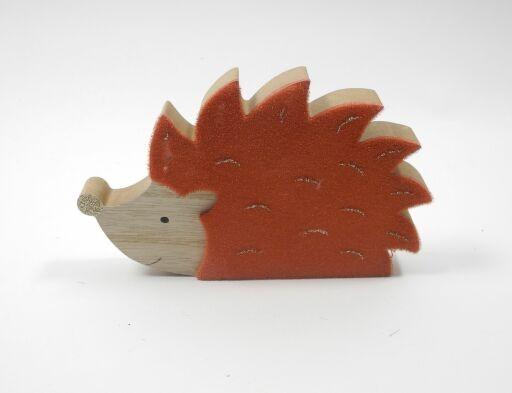 Igel aus Holz, 15 x 9cm, 4 Stück