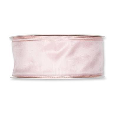 Formb. Drahtkantenband 40mm blasse rosa