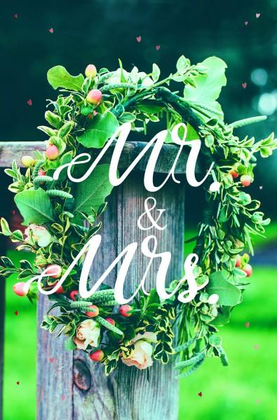 Hochzeitkarten Mr. & Mrs., 1Pack=5 Stück