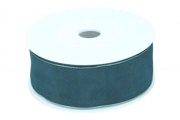 Formb. Drahtkantenband 40mm, 25m, petrol