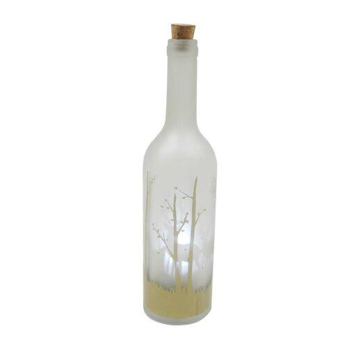 Flasche'Laufendes Hirsch' D7H30cm, LED