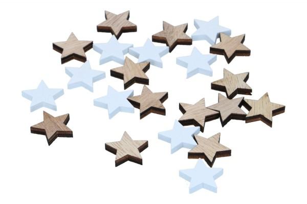 Holz Sterne, 1 Box=48 Stück