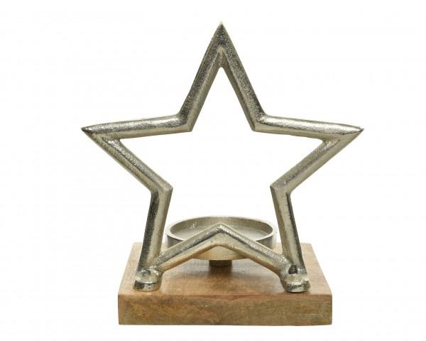 Kerzenhalter Stern 15x19,5x21cm, 1 Stück