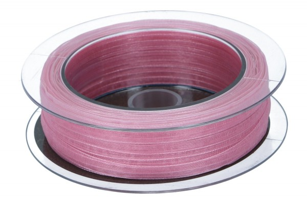 Beauty Organdy Band 7mm, 50m, alt rosa