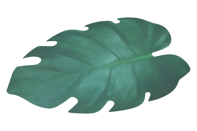 Papiertischset Blattform 46x33cm, grün