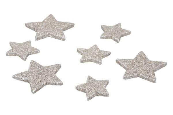 Glietter Sterne zum Streuen, 4 & 6cm