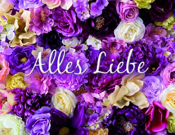 'Alles Liebe' - Minikarten mit Umschlag