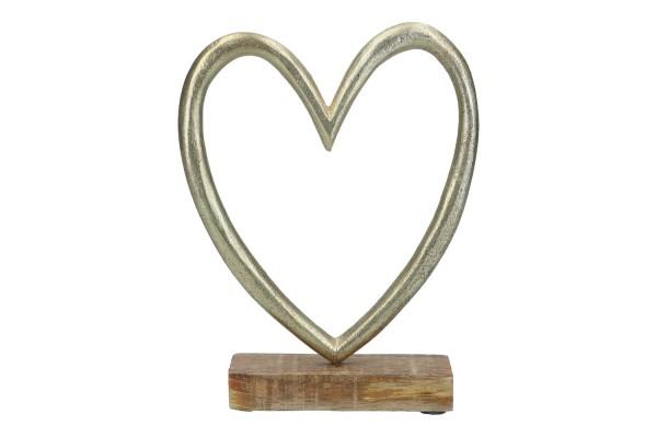 Herz auf Holzfuß, 16,5 x 4 x 21cm 1Stück