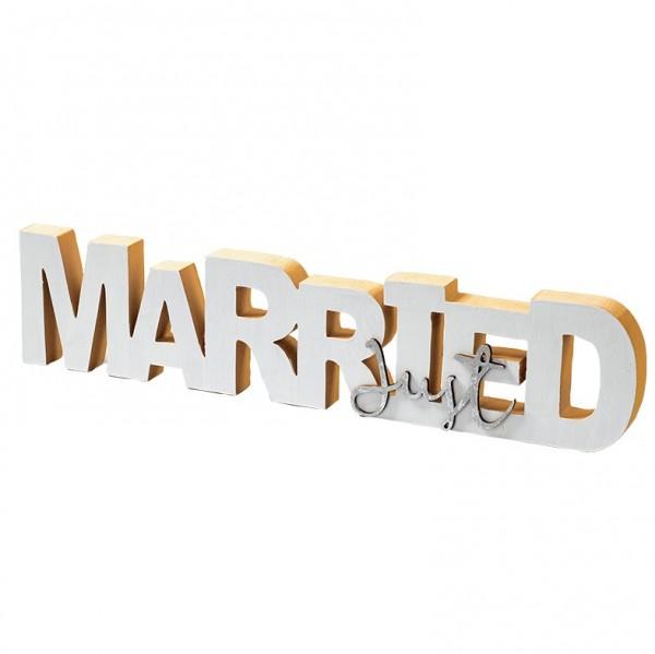 Schild 'Married' 35 x 7 x 2cm, VE = 2 (#131207000)