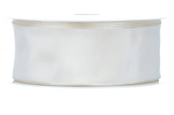 Formb. Drahtkantenband 40mm, 25m, creme