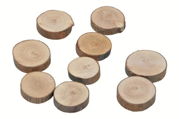 Holzscheiben im Netz, D3-5cm, H1cm, Ve.1 (#138982000)