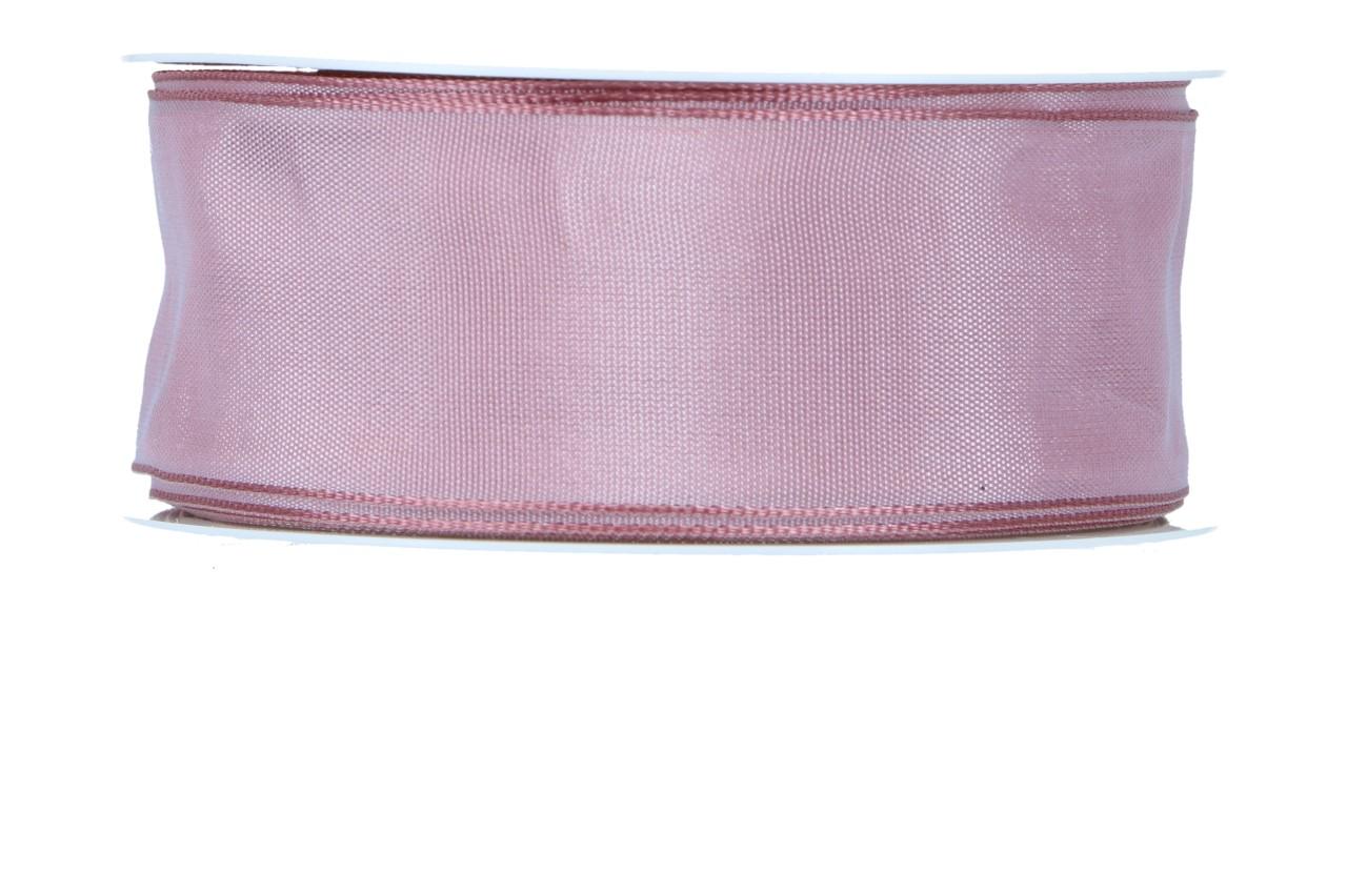 Formb. Drahtkantenband 40mm, dunkelrosa