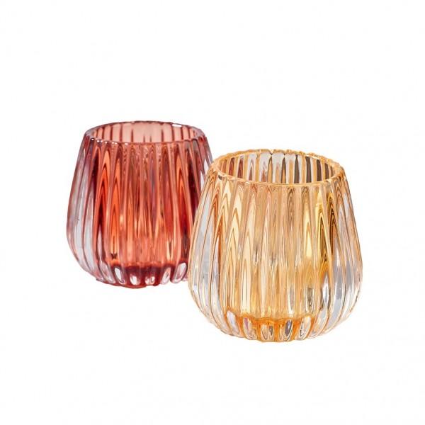 Teelichtglas D8 H7,5cm, VE=4 (#120671000)