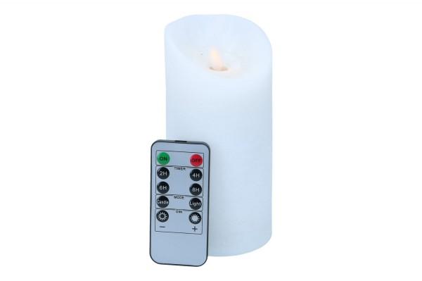 LED Wachskerze mit Wellenflamme, 1 Stück