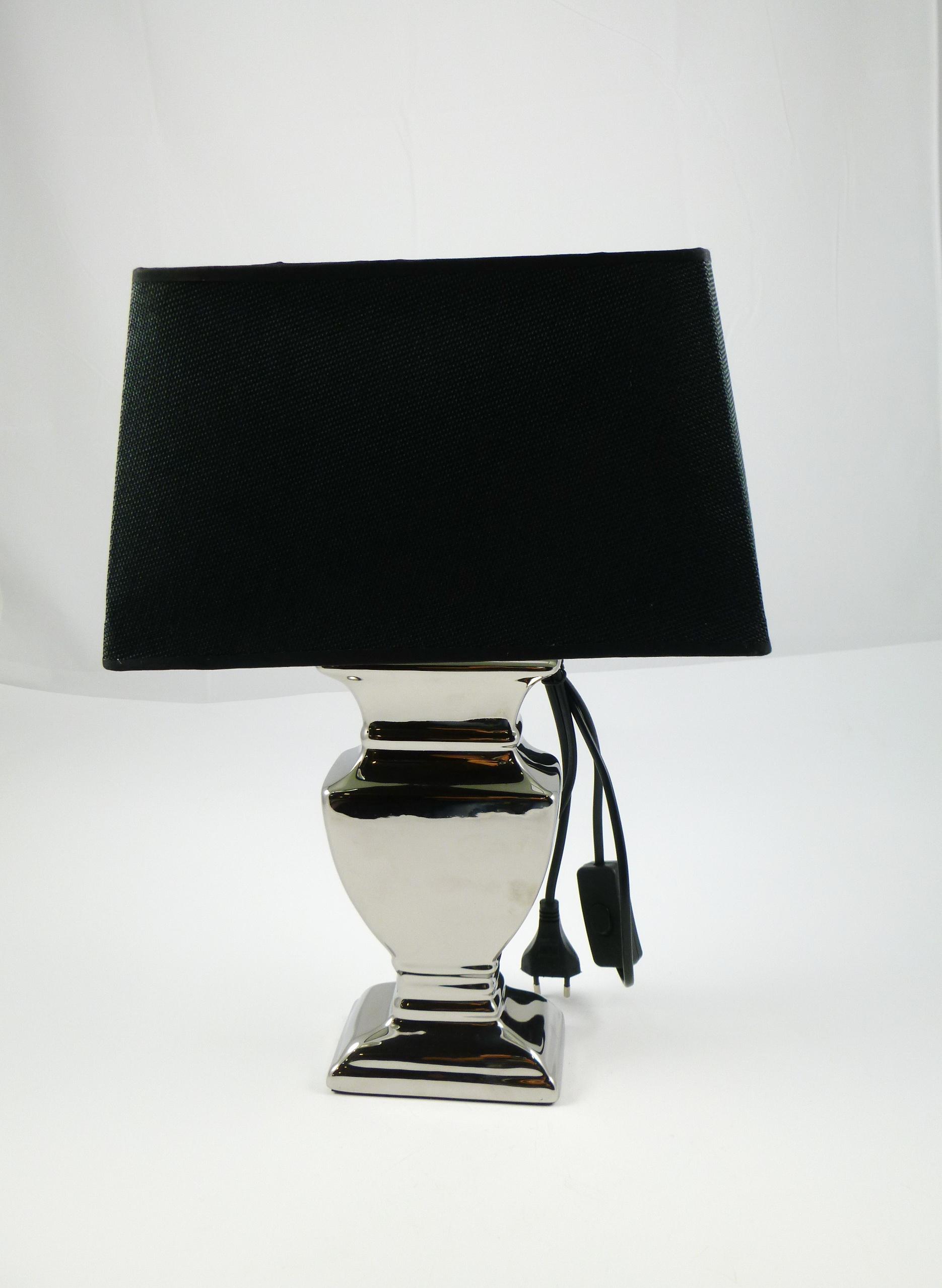 Lampe Malta eckig 12,5x7,5x31cm, 1 Stück