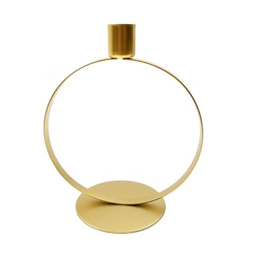 Kerzenhalter D15H18cm Gold Ve = 1 Stück (#153324020)