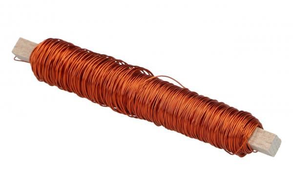 Kupferkackdraht Orange, 100gr.