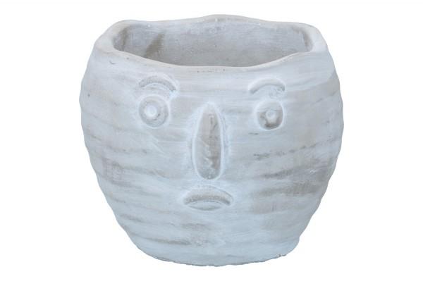 Topf 'Gesicht' Ø15cm Höhe 13cm, 1 Stück