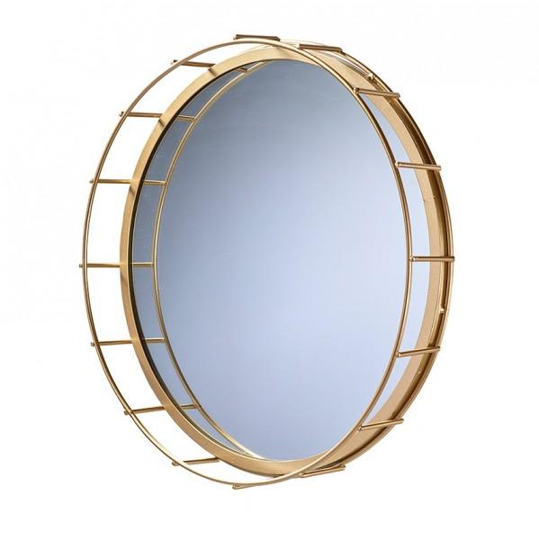 Spiegel mit Goldrand, D34,5H5cm, Ve. 1 (#152871000)