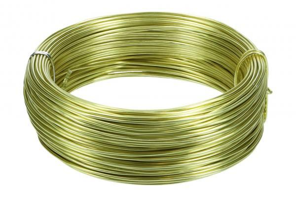 Aludraht, 2 mm, 60m Ring, 500gr. Lemon