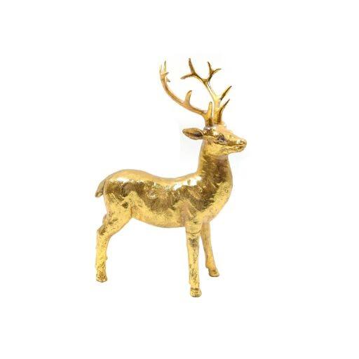 Hirsch 12x18cm GOLD Ve = 1 Stück