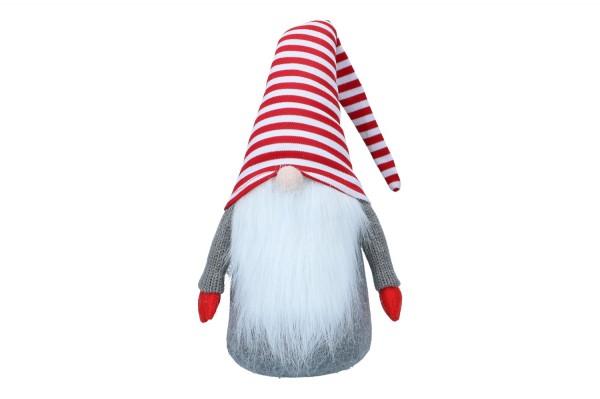 Wichtel mit rot-weiß gestreifter Mütze