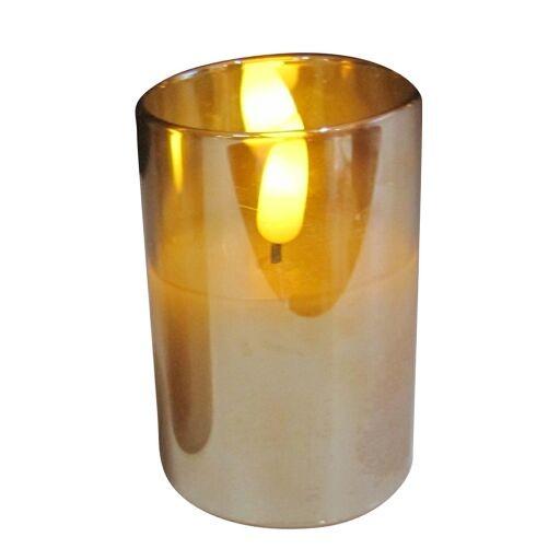 LED Kerze im Glas Ø 7,5cm Höhe 10cm