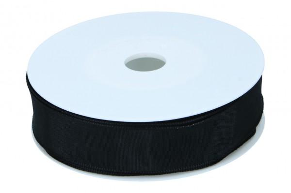 Formb. Drahtkantenband 25mm, 25m,schwarz