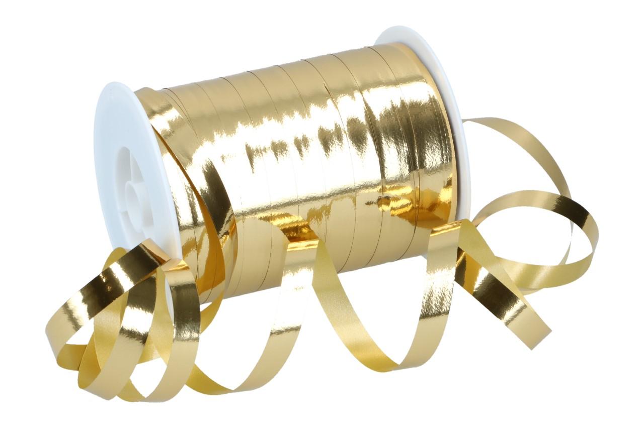 Metallic-Bast 10mm x 250m 7001 gold