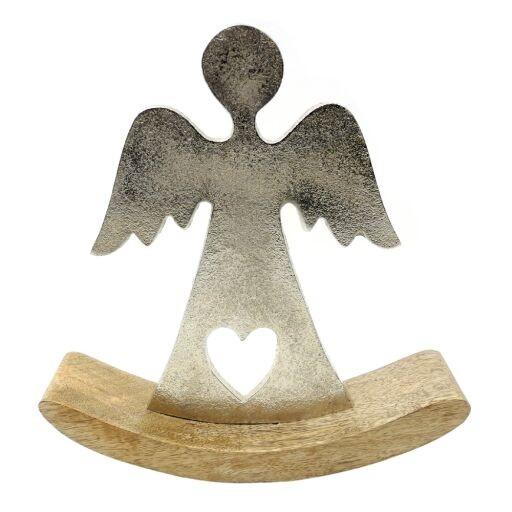 Engel auf Holzfuß 21x5x22cm, 1 Stück