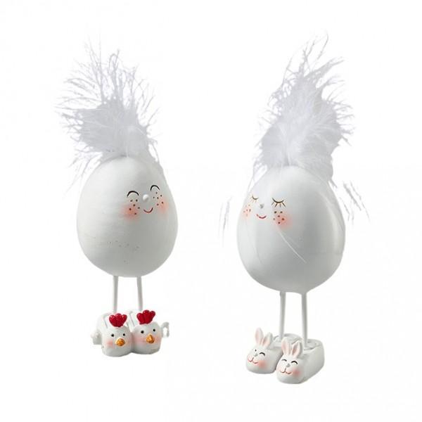 Ei auf Beinen mit Feder D4,5H9cm, Ve.4St (#181387000)
