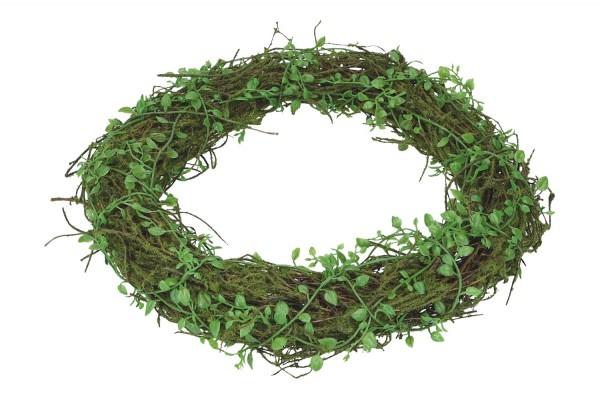 Blätter-Kranz auf Rebe mit Moos, Ø 30cm