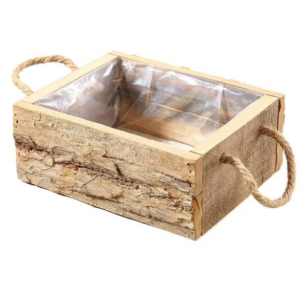 Holzbox mit Henkel 25 x 19 x 10cm, Ve. 1 (#131157000)