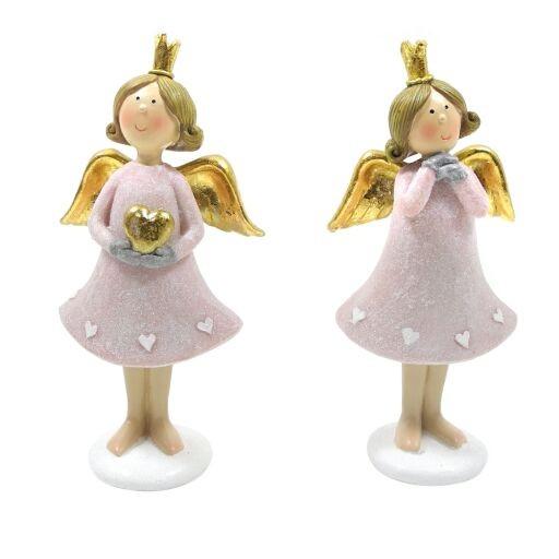 Engel stehend H15cm ROSA Ve = 2 Stück