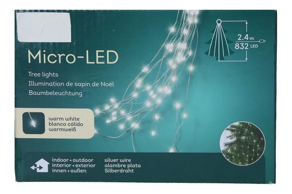 Baumbeleuchtung 2,4m, 832 LED, 1 Stück