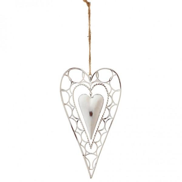 Herz spitz zum hängen 24,5 x 13cm, Ve. 2 (#153494000)