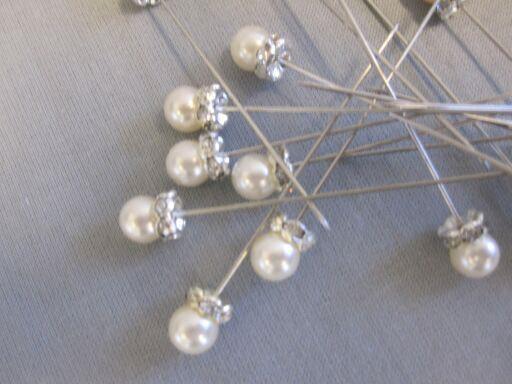 Perlnadeln mit Strasssteine 1Box=30Stück